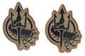 Costa Ludus Patch - Embroidered Costa Insignia - (OD/Brown/Black) - 2pcs / Set
