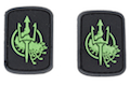 Costa Ludus Patch - PVC (Black/Glow/Small) - 2pcs / Set