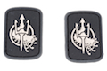 Costa Ludus Patch - PVC (Black/Stone/Small) - 2pcs / Set