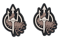 Costa Ludus Patch - PVC Diecut - (Black/Stone) - 2pcs / Set