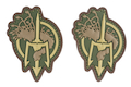 Costa Ludus Patch - PVC Diecut - (OD/Tan/Brown) - 2pcs / Set