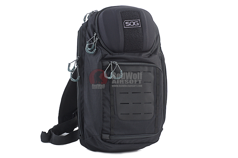 SOG Evac Sling 18 Backpacks - 18L Sling Bag with Molle (Black)
