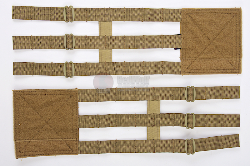 Crye Precision (By ZShot) Adaptive Vest System (AVS) 3-Band Skeletal Cummerbund (L Size / Coyote Brown)