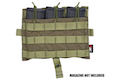 Crye Precision (By ZShot) AVS / JPC Molle Front Flap w/ Flat M4 Pouches (Ranger Green)