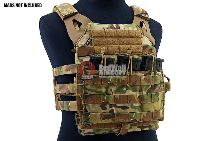 Crye Precision (By ZShot) Jumpable Plate Carrier JPC 2.0 w/ Flat M4 Molle Front Flap (L Size / Multicam)