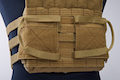 Crye Precision (By ZShot) Jumpable Plate Carrier JPC 2.0 w/ Flat M4 Molle Front Flap (M Size / Coyote Brown)