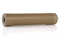 Crusader TR45S Silencer w/ 16mm (CW) & 14mm (CCW) Adapter - TAN (by VFC)