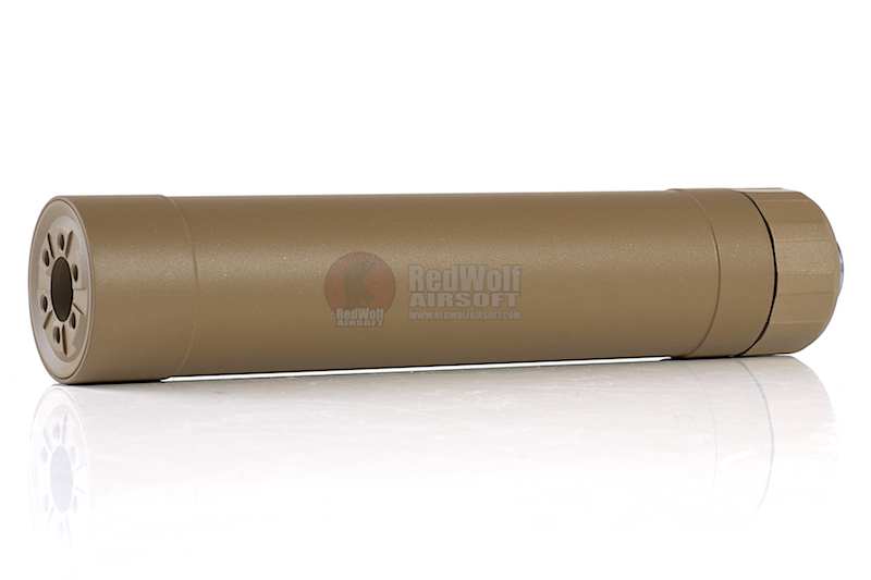 Crusader TR45S Silencer w/ 16mm (CW) & 14mm (CCW) Adapter - TAN