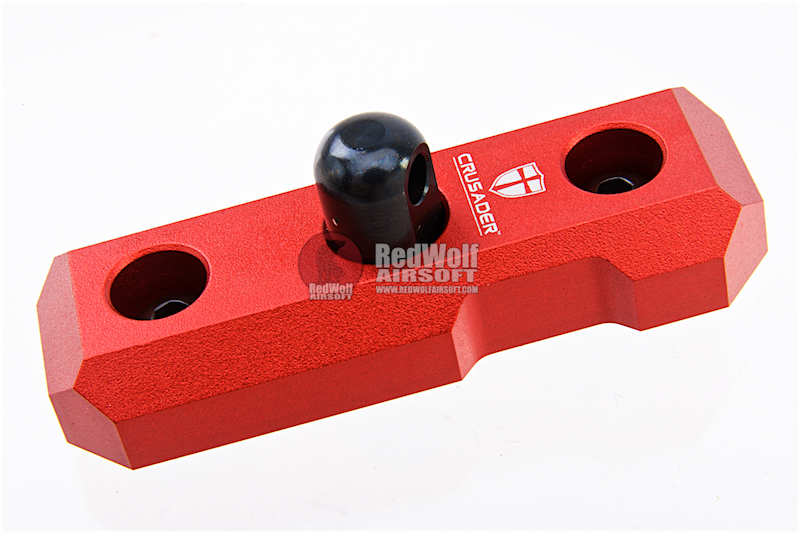 Crusader Bipod Mount for M-Lok Rail - Red