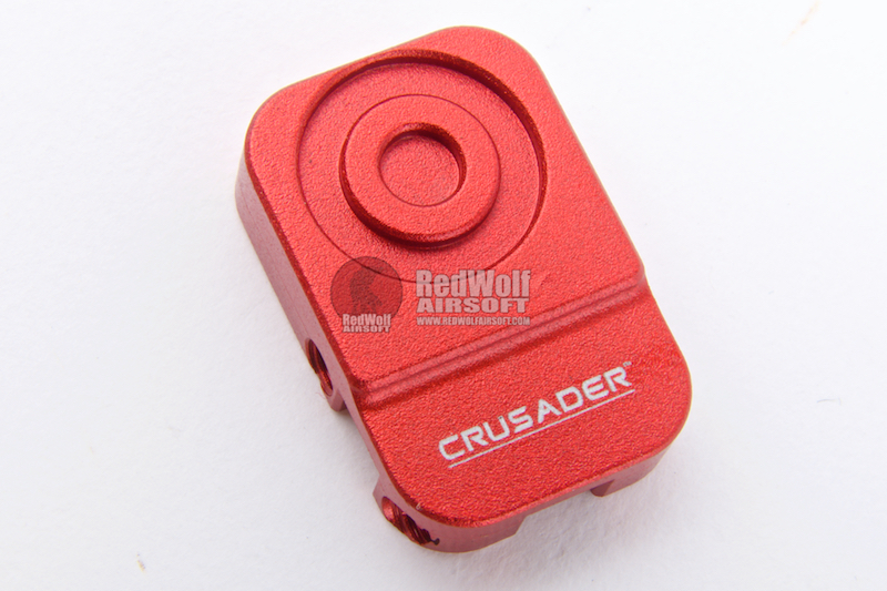 Crusader M4 Match Type Extended Bolt Catch Button for VFC M4 GBBR - Red