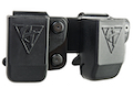 Comp-Tac Twin Belt Clip Magazine Pouch (G9/40) for Glock Magazine (Right Hand / Black)