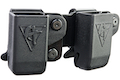 Comp-Tac Twin Belt Clip Magazine Pouch (CZ) for CZ Magazine (Right Hand / Black)