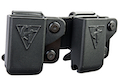 Comp-Tac Twin Belt Clip Magazine Pouch (1911 Single Stack) for 1911 Magazine (Right Hand / Black)