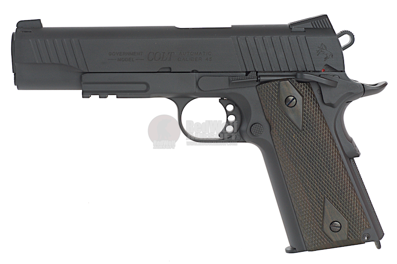 Cybergun Colt 1911 Rail CO2 GBB Pistol - Black