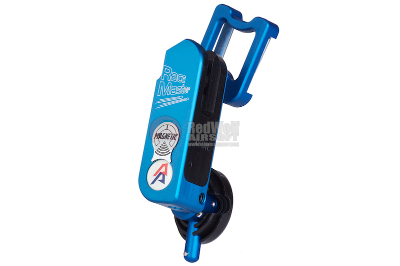 DAA Magnetic Race Master Holster (New Magnetic Insert Block) for SV Aluminum Grip Series (Right Hand / Blue) <font color=yellow>(Clearance)</font>