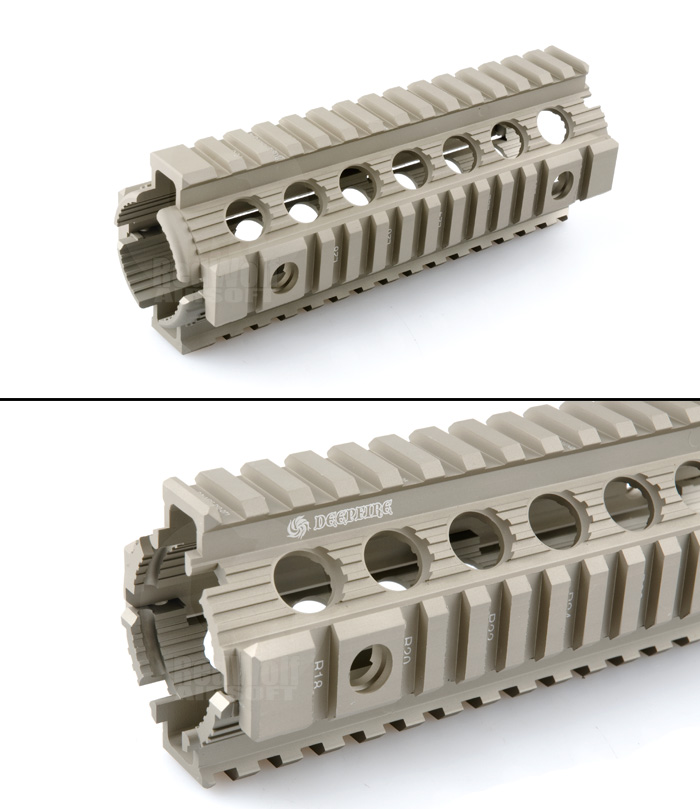 Deep Fire 7 inch MRF-DI Modular Rail Drop In Kit (Flat Dark Earth) for M4 AEG