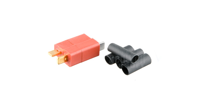 Deep Fire 350 Degrees C Heat Resistant T-Type Connector Full Set (Red with Gold Electroplating)