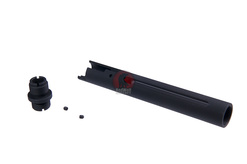 Deep Fire Outer Barrel with Thread Adaptor for Tokyo Marui Hi-Capa 5.1 - Type B (Black)