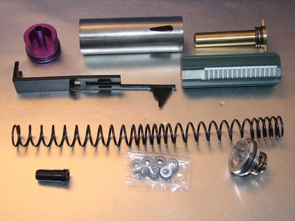 Deep Fire Full Tune Up Kit for Marui AK Beta (M130 Original Cylinder / Enlarged Nozzle) (Bore Up Version)