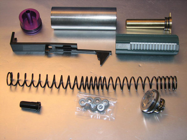 Deep Fire Full Tune Up Kit for Marui AK (M120 Original Cylinder / Enlarged Nozzle) (Bore Up Version)