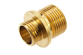 Dynamic Precision Stainless Steel Silencer Adapter M11 CW to M14 CCW - Gold