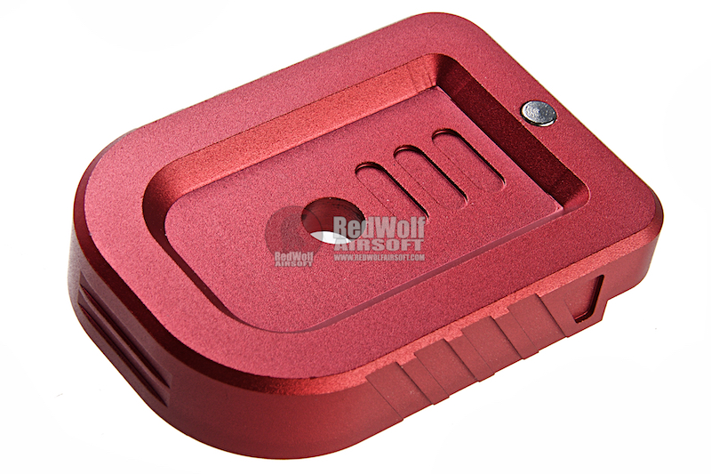 Dynamic Precision Instinct Mag Base Type A for Tokyo Marui Hi-Capa Series GBB Pistol - Red