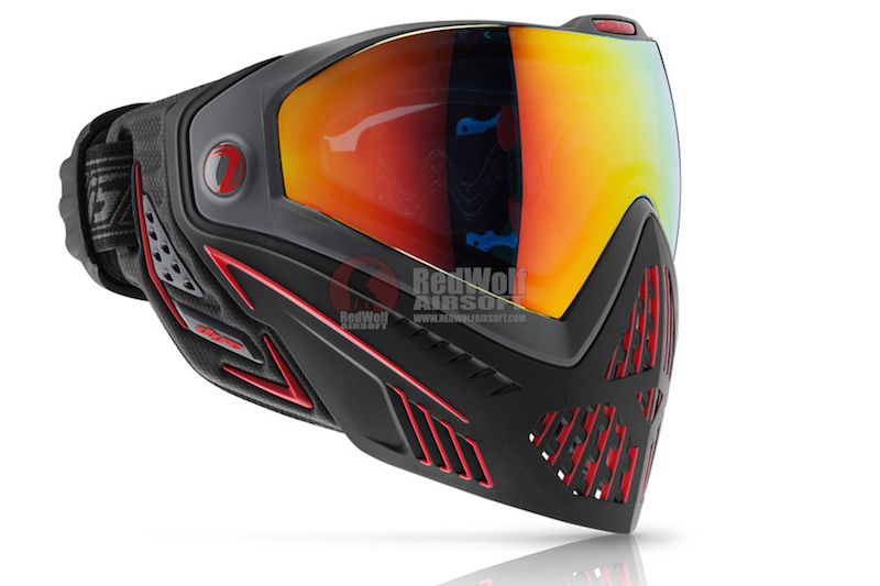 Dye Precision i5 Goggle System FIRE - Black / Red