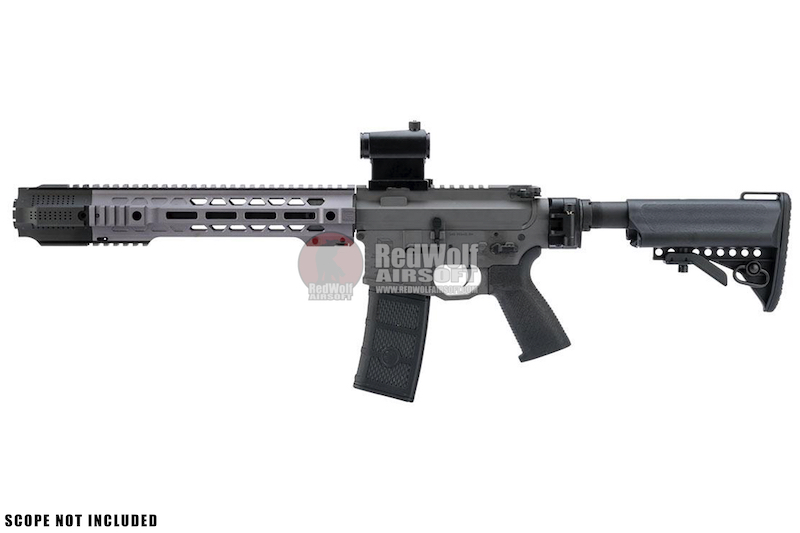 EMG Salient Arms Licensed GRY AR15 (M4) SBR AEG (Folding Stock) - Gray (by G&P)
