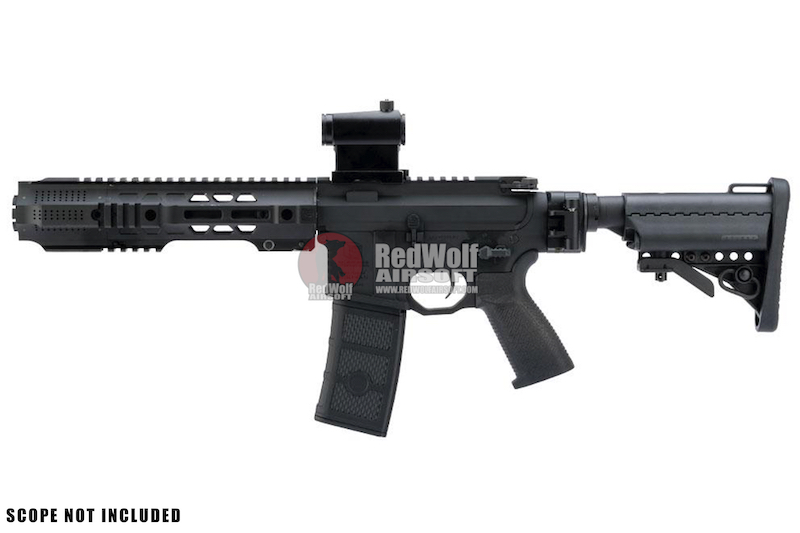 EMG Salient Arms Licensed GRY AR15 (M4) CQB AEG (Folding Stock) - Black (by  G&P)