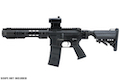 EMG Salient Arms Licensed GRY AR15 (M4) Gen.2 CQB AEG (Folding Stock) - Black (by G&P)
