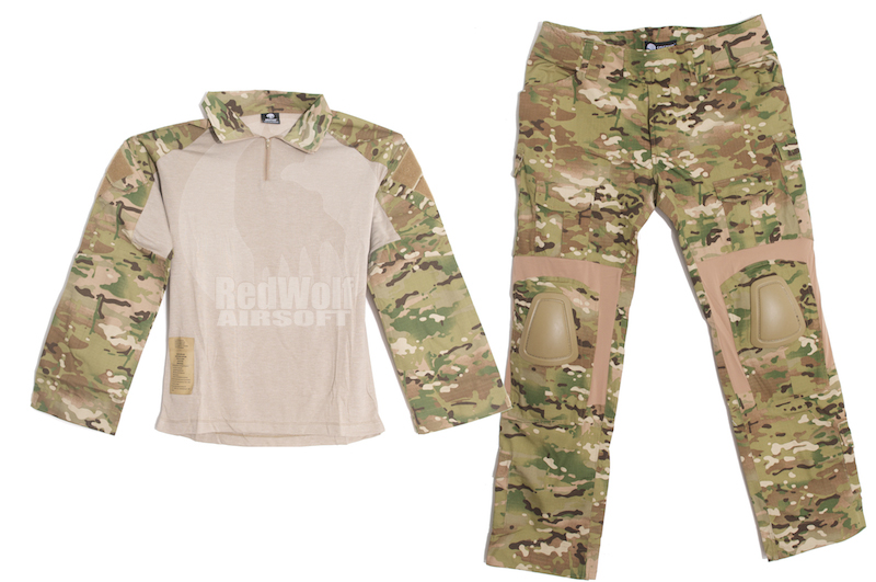 Emerson Combat Gen3 Shirt & Pants & Elbow Knee Pads (MC / XL Size)