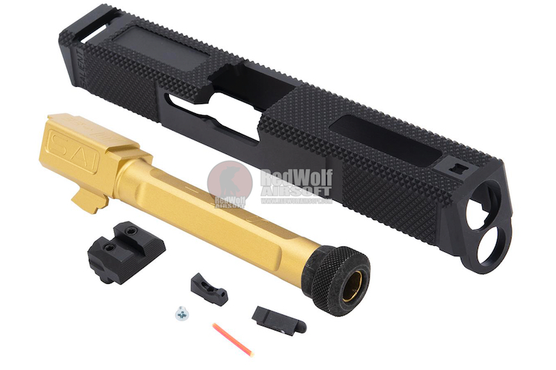 EMG SAI Utility Slide Kit (by G&P) - Gold Barrel for Umarex Glock 17 GBB Pistol