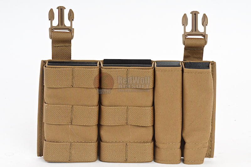 Esstac Daeodon Front Panel DBL 5.56 & 9mm - Coyote Brown