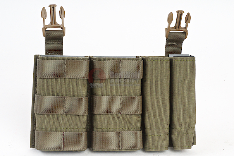 Esstac Daeodon Front Panel DBL 5.56 & 9mm - Ranger Green