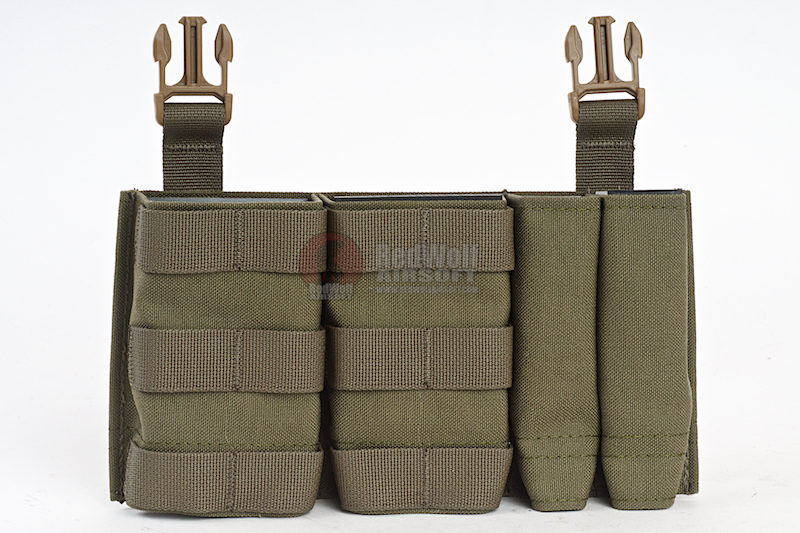 Esstac Daeodon Front Panel DBL 7.62 & 9mm - Ranger Green