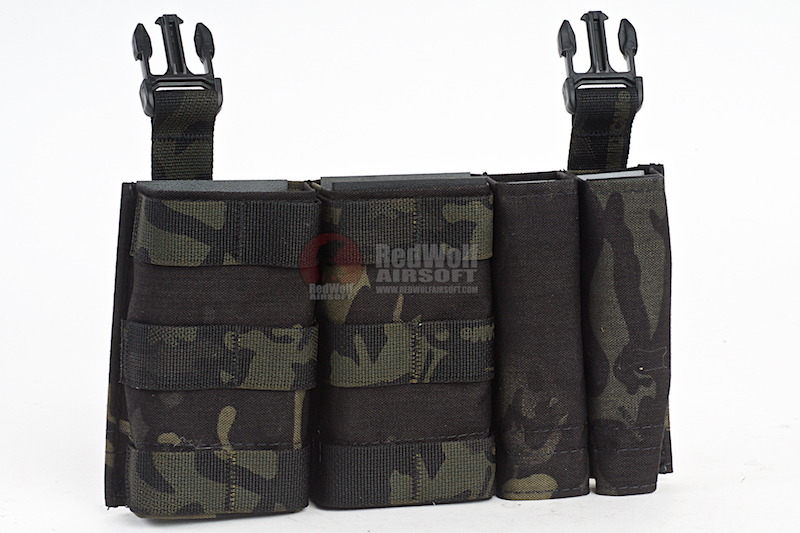 Esstac Daeodon Front Panel DBL 5.56 & 9mm - Multicam Black