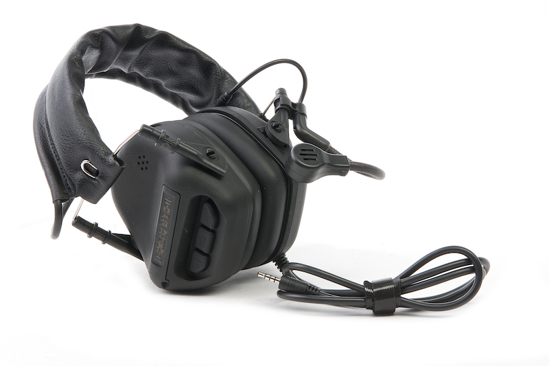 Roger Tech EVO406-C Electronic Hearing Protection (AUX-Wired Version) - Tactical Black