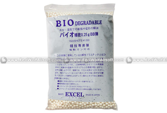Excel Bio-Degradeable 0.25g 6mm BBs 1500 rounds
