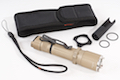 OPSMEN FAST 501A Tactical Flashlight w/ Crenulated Bezels (1000 Lumen) - DE