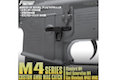 First Factory M4 Custom Ambi Magazine Catch for M4 AEG Standard Series - Black