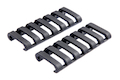 Ergo lowPro Rail Cover is a product by PTS by Ergo 7 slot (2 Pack) (BK)