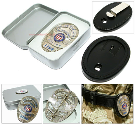 G&G Metro Police Badge with Holder Set