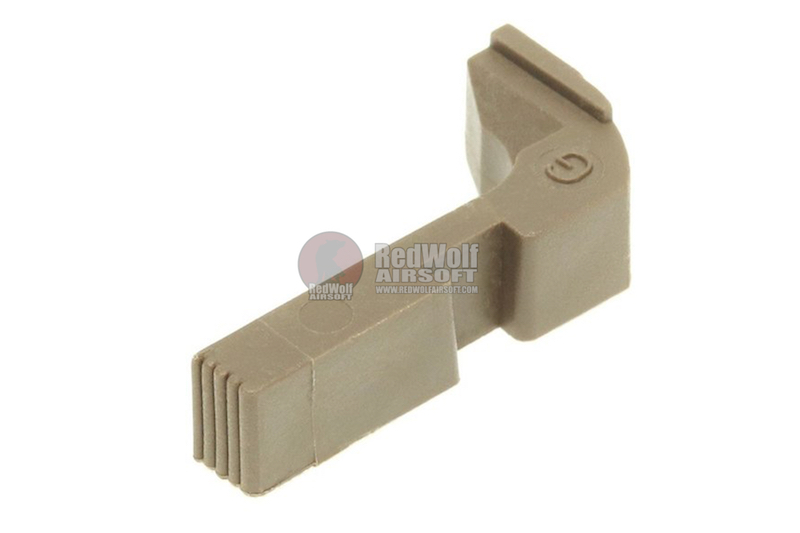 Guarder Extended Magazine Release for Tokyo Marui / KJ Works G Series GBB Pistol - FDE