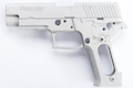 Guarder Metal Slide & Frame for Tokyo Marui P226 E2 with Marking - Silver (Aluminum Original)