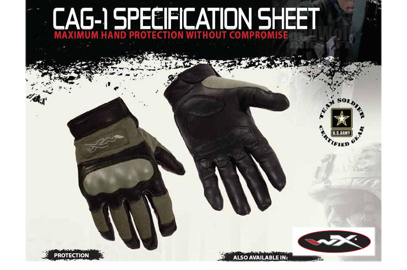 Wiley X CAG-1 Glove (Large / Foliage Green)