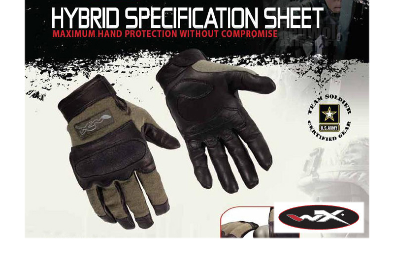 Wiley X Hybrid Glove (Medium / Foliage Green)