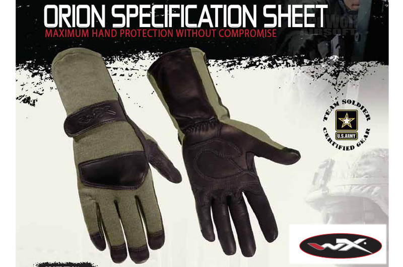 Wiley X Orion Combat Gloves (Large /Green)