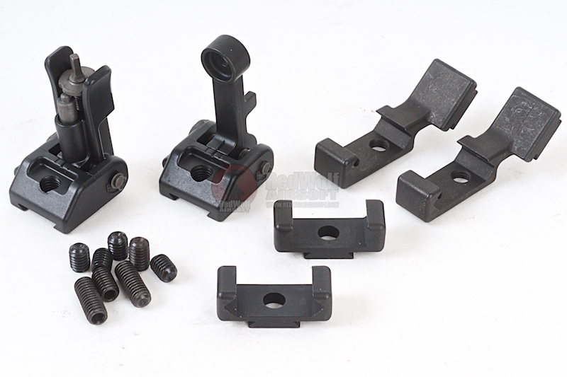 PTS Griffin Armament Modular Back Up Iron Sight Set - Black