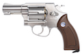 Gun Heaven (Win Gun) Sheriff M36 2.5 inch 6mm Co2 Revolver (Brown Grip) - Silver
