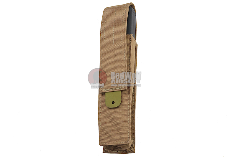 Ghost Gear Single Long Magazine Pouch for Kriss Vector AEG - Tan